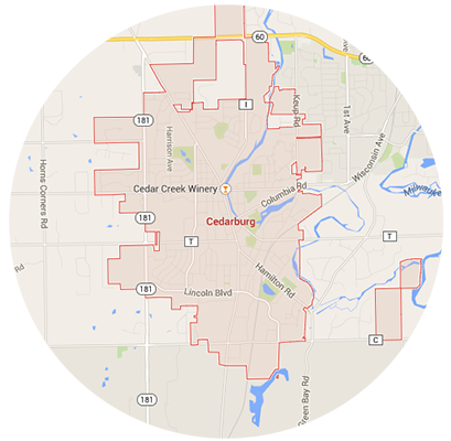 Cedarburg Garage Door Service Areas